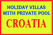 Villas to rent in Croatia with private pool