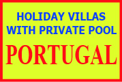Villas with pool to rent in Portugal
