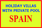 Villas with private pool to rent in Spain